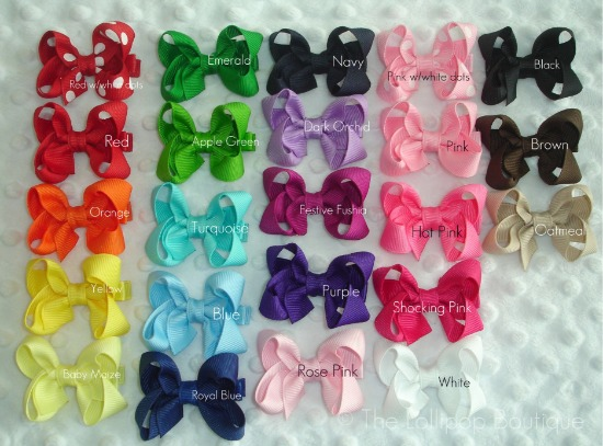 Solid Hair Bows