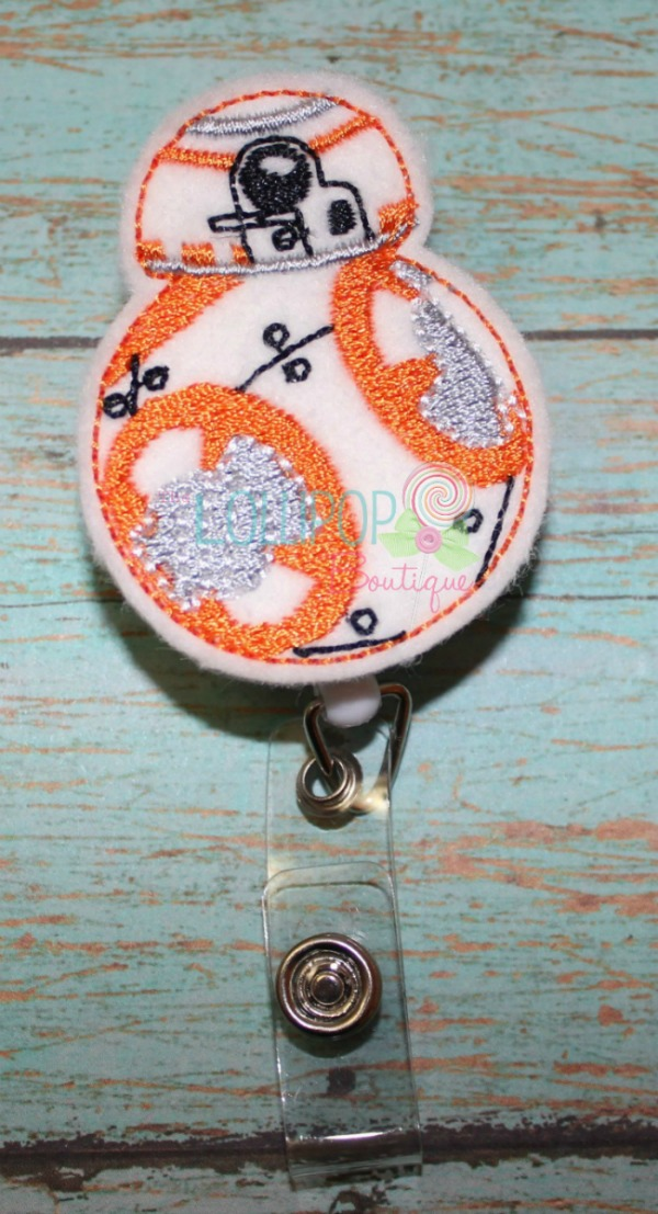 B8 Robot Felt Badge Reel