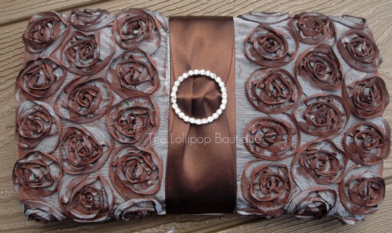 Blue-Brown Rosette Wipe Case