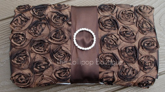Brown Rosette Wipe Case