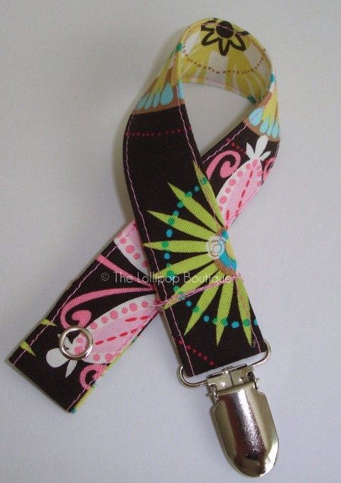 Carnival Bloom Pacifier Clip