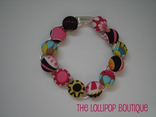 Carnival Bloom Button Bracelet