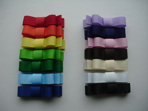 Mini Baby Bar Hair Clips-Solid Colors