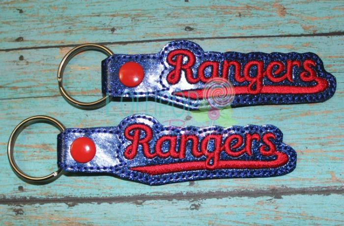 Rangers Glitter Key Fob