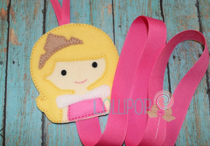 Sleeping Princess Felt Bow Holder