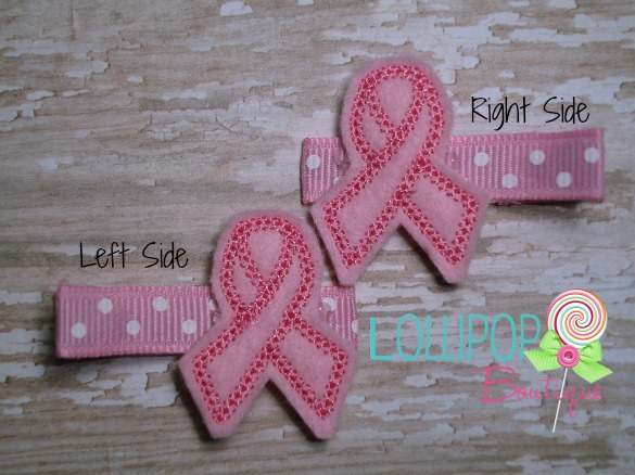 Felt Awareness Ribbon Hair Clip