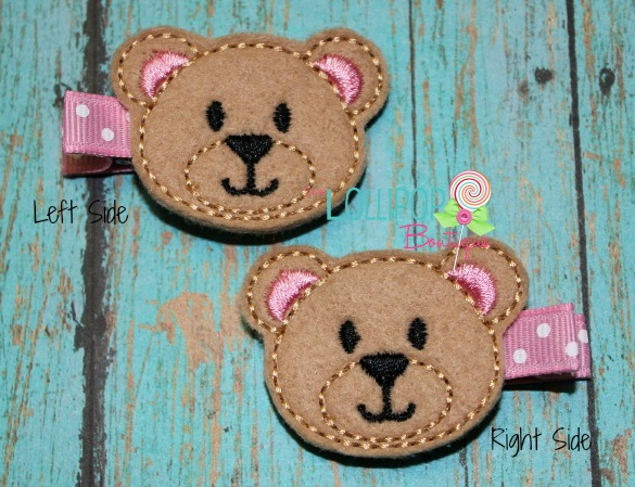 Bear Felt Hair Clips
