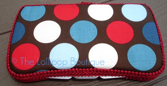 Big Brown Dot Fabric Wipe Case