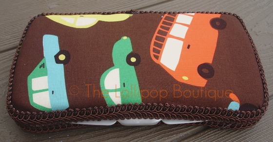 Brown Cars Fabric Wipe Case