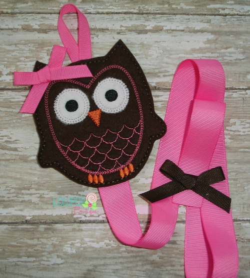 Brown Owl Felt Bow Holder