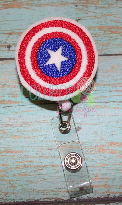 Captain Hero Felt Badge Reel