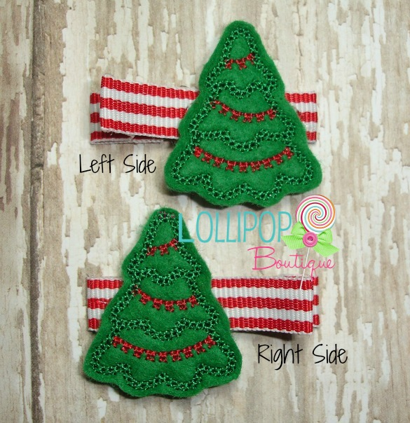 Christmas Tree Felt Hair Clip