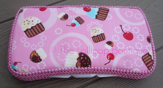 Cupcake Confections Fabric Wipe Case
