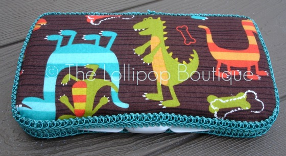 Dino Dudes Fabric Wipe Case