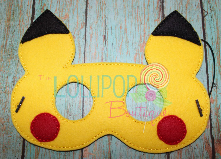 Electric Mouse Felt Dress Up Mask