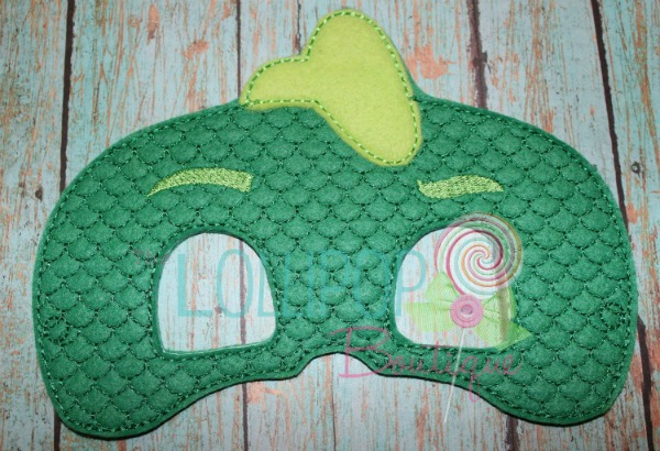 Green Lizard Felt Dress Up Mask