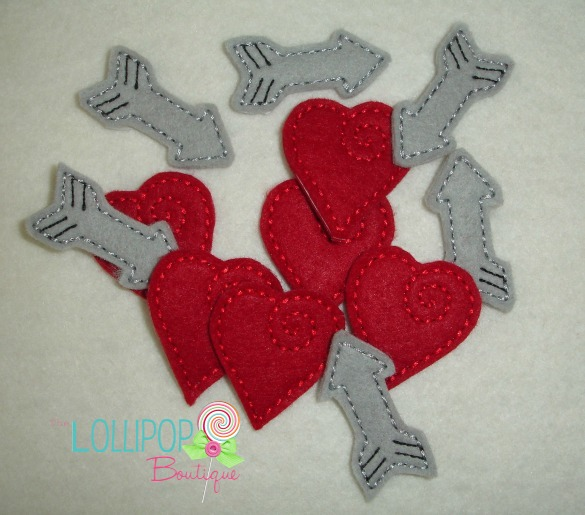 Heart and Arrow Extra Felt Pieces