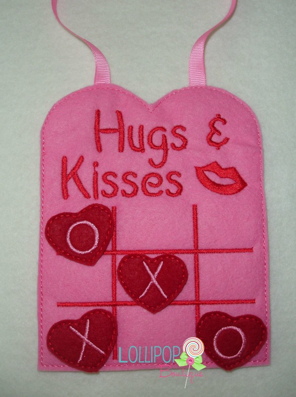 Hugs and Kisses Tic Tac Toe Board