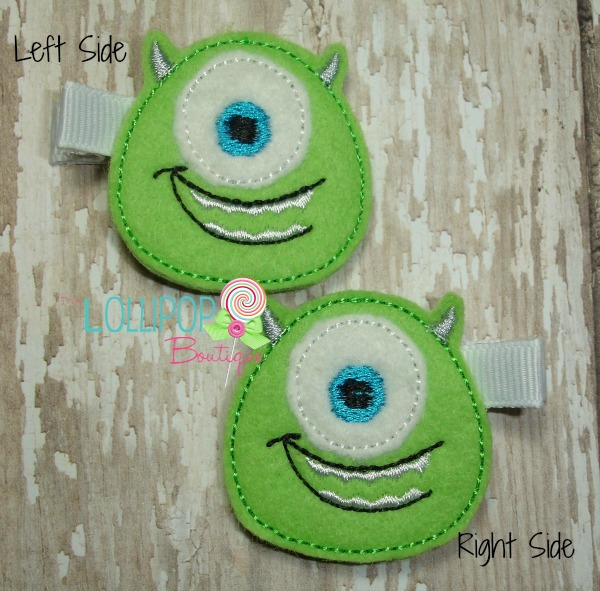 Green Monster Felt Hair Clip
