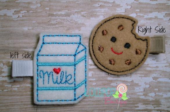 Milk and Cookie Felt Hair Clip