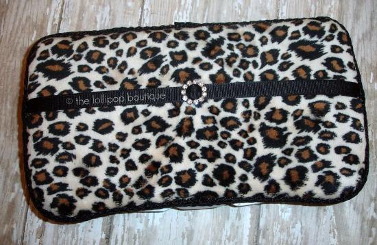 Leopard Minky Wipe Case