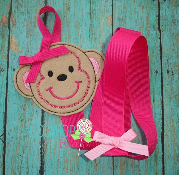 Felt Monkey Bow Holder