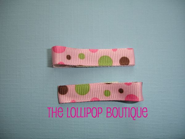 Pink Fun Dot Clippies