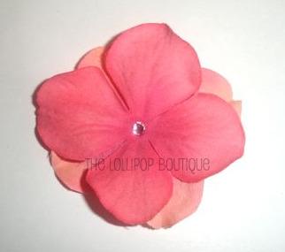 Hydrangea Flower Blossom Hair Clips
