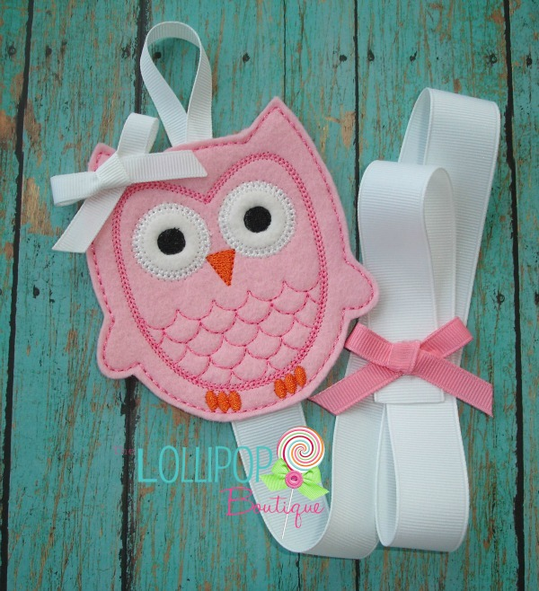 Pink Owl Felt Bow Holder