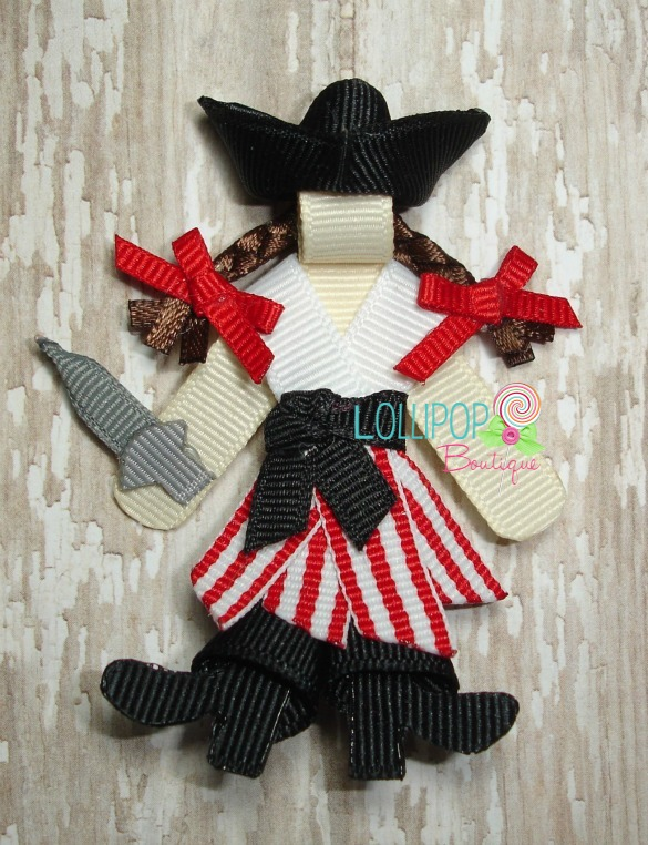 Pirate Girl Hairclip