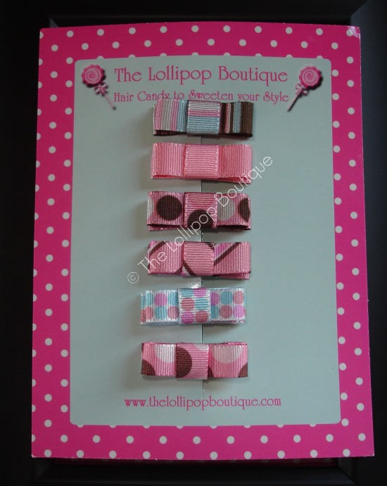 Uptown Girl Pink Snap Clips