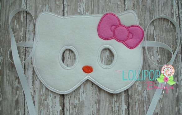 White Cat Felt Dress Up Mask