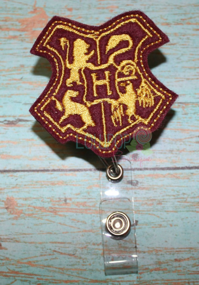 Wizard Crest Felt Badge Reel