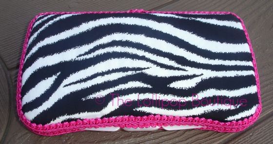 Boutique Zebra Wipe Case